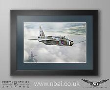 Framed English Electric Lightning T5 LTF RAF Binbrook Digital Art Print