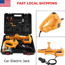 12V Automotive Electric Car Lifting Jack With Controller Impact Wrench 3 Ton US