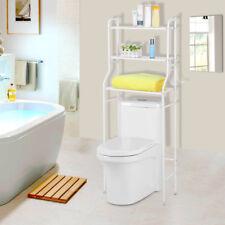Toilettenregal Waschmaschinenregal Badezimmer Bad Regal WC Standregal in weiß S