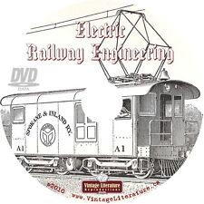 1915 Electric Railway Engineering Book { Model Railroading } on DVD
