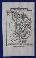 Original antique county map SUFFOLK, John Cary, 1828