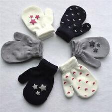 1 Paar Kinder Kleinkind weiche Strick Fäustlinge Mode Winter Warme Handschuhe