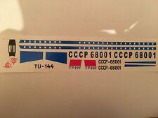 TU-144 Decals VEB PLASTICART