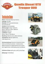 Quadix Diesel UTV soldat 800 _ 2015 Prospectus/Brochure