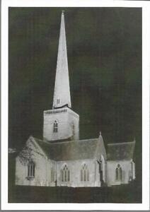 Kidlington, Oxfordshire - St. Mary's Church night - postcard c.1970s