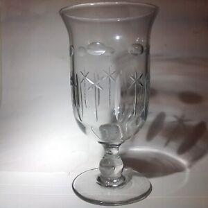 Antique Victorian Cut Glass Celery Vase Circa 1880s Beautiful
