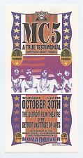 Mc5 A True Testimonial Premire 2003 Oct 30 Detroit Handbill Mark Arminski