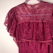 70s Cape Maxi Handmade burgundy long formal dress