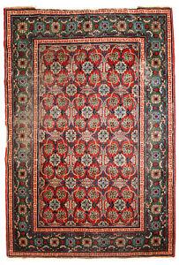 Handmade East Turkestan Khotan rug 3.5' x 5.1' ( 107cm x 156cm ) 1900s -1C724