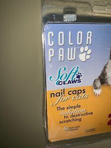 NIP Color Paw Soft Claws Nail Caps Originally 19.99 Small LADY RED POLISH ❤️tw4j