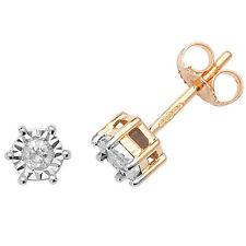 diamante solitario ORECCHINI ORO GIALLO BORCHIE 0.15ctw VALUTAZIONE CERTIFICATO