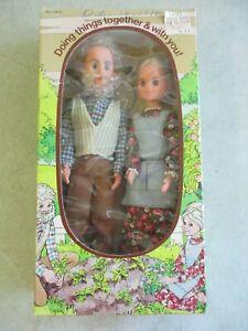 VINTAGE 1975 SUNSHINE FAMILY GRANDPARENTS GRANDMA GRANDPA DOLLS BY MATTEL IN BOX