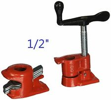 "1/2"" Wood Gluing Pipe Clamp Set Heavy Duty PRO Woodworking Cast Iron"
