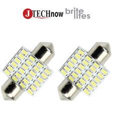"""2x 31mm(1.25"""") 24 SMD LED Bulb Extremely Super bright White DE3175 DE3021 DE3022"""