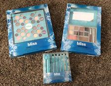 Bliss Cosmetics Makeup Deluxe Eyeshadow Palette Lip Cheek Blush Gloss Brush New