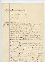1873 Handwritten People New York NY Court VS John Fitzsimmons Drunk Gambling