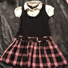 Girls Cute Uniform Plaid Dress Size 6/7