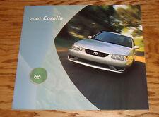 Original 2001 Toyota Corolla Deluxe Sales Brochure 01