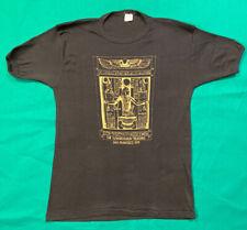 VTG 70s T Shirt Womens Black MED 17x25 King Tut Young Museum San Fran 1979 Mint