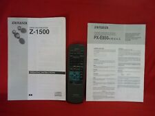 AIWA RC-6AS02 REMOTE CONTROL & MANUAL FOR Z-1500 STEREO SYSTEM WORKING WELL