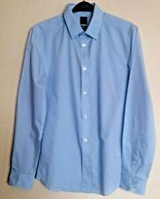 Shirt L/S size S slim fit blue  easy iron H&M bnwt