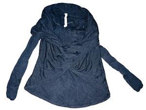Lululemon Sz 8 Twist & Wrap Heathered Black Charcoal Sweater Women's