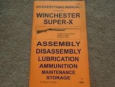 Winchester Super-X  Shotgun Shooters Manual 31 Pg.