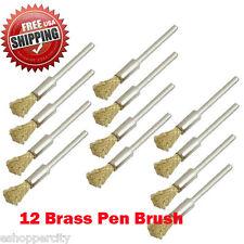 "12  Rotary Brass Wire Brush Dremel 8220-2/28 395 4000 1/8"" Shank Clean Polish"