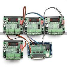 Nuevo 4 Eje Tb6560 Cnc Controlador Motor Pap Controller Board Kit,57 Bifásico,3 una