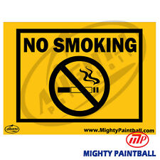 Paintball Safety Sign - No Smoking (Mp-Fe-S001)