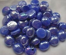 Discontinued * Mini gems Electric Blue glass globs Mosaic Tile Tiles