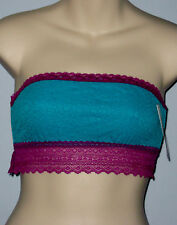 New Kensie Size S Turquoise Lace Tube Bra