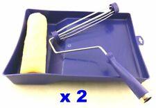 "2 lot of 3 Pcs set 9"" 230mm Paint Roller Kit roller frame cover Plastic Tray"