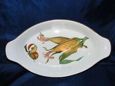 Royal Worcester China Evesham Gold Pattern Oval Handled  Baker Casserole Dish