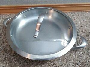 "Calphalon Stainless Steel #1380 10""  Saute Pan & Lid Bin 15"