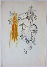 Richard Mann 1970 surreal painting Priest artist St. John the Divine Cathedral
