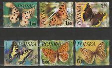 Polen Mi 2516-21 Vlinders Schmetterlinge Butterfly Used C.W. 1,70 euro