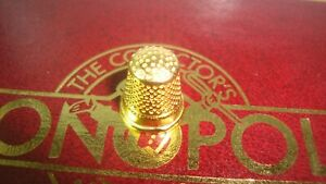 Franklin Mint Collectors Edition Monopoly Gold Plated THIMBLE Replacement TOKEN