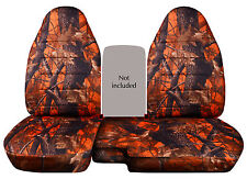 CC 98-03 FORD RANGER TREE CAMO CAR SEAT COVERS 60-40 HIGHBACK SEAT ,CHOOSE COLOR