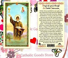 Saint Charbel - Prayer for Graces through St. Charbel - Laminated  Holy Card