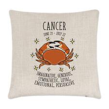 Cancer Horoscope Linen Cushion Cover Pillow - Horoscope Star Sign Zodiac