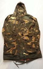 TIGHA Herren Camouflage Mantel Jacke mit Kapuze Baumwolle Grün Gr. M