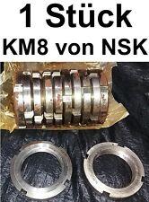 1x NUTMUTTER KM8 M40x1,5 KUGELLAGER NSK LOCKNUTS BEARRING Wellenmutter
