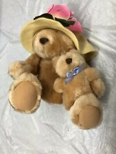 Hallmark Bearnadette Cuddlesworth Mother And Baby Fuzzmore Teddy Bear