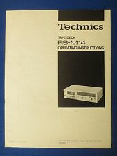 TECHNICS RS-M14 CASSETTE OWNER MANUAL ORIGINAL FACTORY ISSUE THE REAL THING