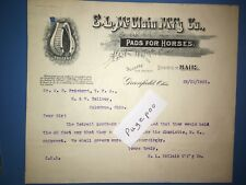E L McCLAIN PADS FOR HORSES N & W RAILWAY Railroad Correspondence Letter 1901
