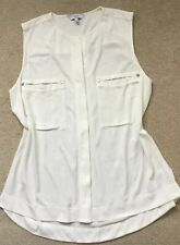NEXT Size 16 Cream Sleeveless Top, Fake Placket ❤️Worn Once, Perfect Condition