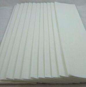12 White Crepe Paper Folds, each 150cm x 50cm by shop@clikkabox