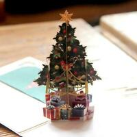 3D Card Christmas Tree Greeting Baby Gift Happy Holiday Cards New Chrismas L1P0