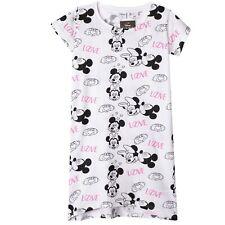 Disney Minnie Mickey Mouse 100% Algodón Túnica Ropa De Dormir Tops Niñas Adolescentes 16Y